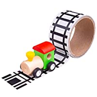 Bigjigs Toys Railway Track Sticker Tape - Removable Track