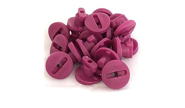 TikTakToo Moveandstic Rohrsicherungen Rohrverschluss Schliessriegel f/ür Rohre oder Plattenknopf Plattenkn/öpfe Plattenschraube Plattensicherung 20 Rohrverschl/üsse, brombeer Magenta