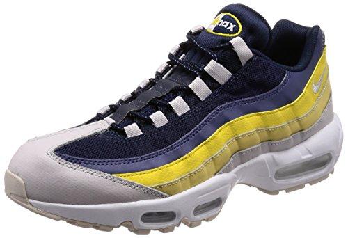 Nike Herren Air Max 95 Essential Sneaker, grau/gelb/weiß, 41 EU