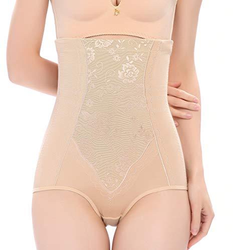 Vlazom Damen Miederpants Baumwolle figurenformend Miederslip Super Elastisch Shapewear mit Hohe Taille Bauch-Weg-Effekt