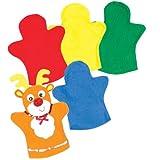Filz-Handpuppen - zum Basteln und Dekorieren für Kinder - für Puppenspiel - 6 Stück