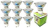 Trango 10er Pack 3.0 Watt LED Leuchtmittel GU10 Lampenfassung 3000 K warm-weiß 10TGGU1025 Glühbirnen/Glühlampen / ersetzen 35 W Halogen Lampen/Reflektorform / 230 Volt