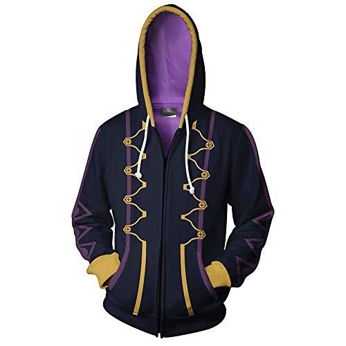 RJHWY 3D Hoodie Sweatshirt Unisex Pullover Kapuzenjacke Kleidung Mantel Reißverschluss Fire Emblem XXL