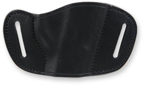 BullDog Black MOLDED Leather Belt Slide Holster by Bulldog Cases (Belt Holster Slide)