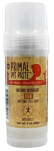 Primal Pit Paste - Natural Deodorant Stick Orange Creamsicle - 2 oz.