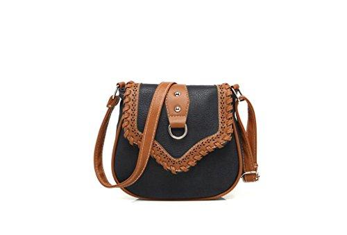 Borsa Minimalista spalla, borse da donna, eolici di piccola profumata borse casual, pacchetto diagonale della moda black