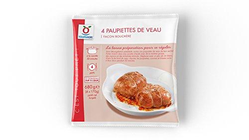 TOUPARGEL - Paupiettes de veau façon bouchère - 4 x 170 g - Surgelé