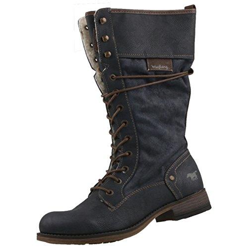 Mustang Damen Stiefel gefüttert Grau-Blau (Graphit), Schuhgröße:EUR 40