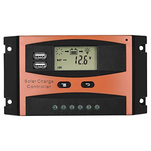 Neufday-30A/20A 50 V Dual USB LCD-Display Smart PWM Solarpanel-Laderegler IP32 Wasserdicht(30A)