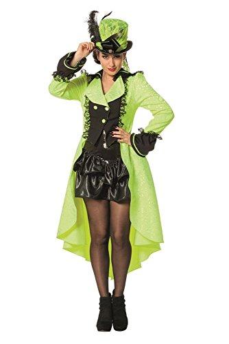 Steampunk Kostüm Horror - Wilbers Damen Kostüm Steampunk Jacke neon-gelb Karneval Fasching Gr.56