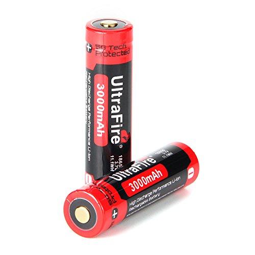 Galleria fotografica UltraFire Batteria 18650 Ricaricabile Litio U18-30 3.7V 2800mAh(Max) Prestazione Protetta Batteria (2 Pezzi)