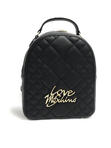 Love Moschino Quilted Logo Donna Handbag Nero Nero