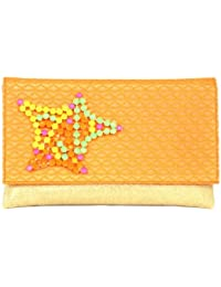 SAISHA Women's Handbag (Yellow&Orange) (FCB0009)