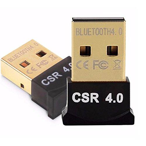 Bluetooth 4.0 USB Adapter | für Computer mit vergoldetem USB, Bluetooth-Empfänger für Bluetooth Headset / Maus / Tastatur / Digitalkamera / Fax / Drucker für Audio, Daten- und Bildübertragung - 2 Pack - Vista Usb-tastatur