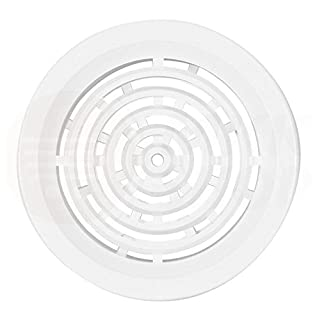 MKK Lüftungsgitter Garage ASA Kunststoff weiß Ø 50 mm Tür Bad WC Zuluft Abluft rund Küche Lüfter Gitter Abschlussgitter
