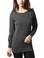 Urban Classics Damen Sweatshirt Ladies Wideneck Crewneck