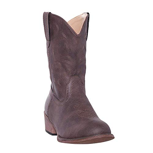 Silver Canyon Boot and Clothing Company Kinder Monterey Kinder West Brown-Cowboystiefel für Junge 1 M US kleine Kinder Distressed Brown