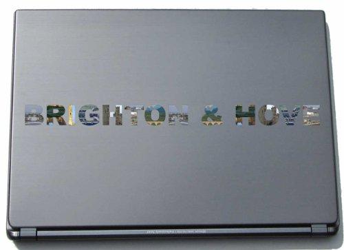 Brighton & Hove Laptop Aufkleber Laptop Skin 290 mm mit Sehenswürdigkeiten (Garten Brighton)
