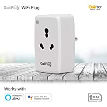 Oakter Oakplug WiFi Smart Plug Control Your Devices from Anywhere No Hub Required Compatible with Alexa & Google Assistant (White)