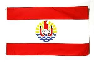 DRAPEAU POLYNÉSIE FRANÇAISE 150x90cm - DRAPEAU POLYNÉSIEN - FRANCE 90 x 150 cm - DRAPEAUX - AZ FLAG