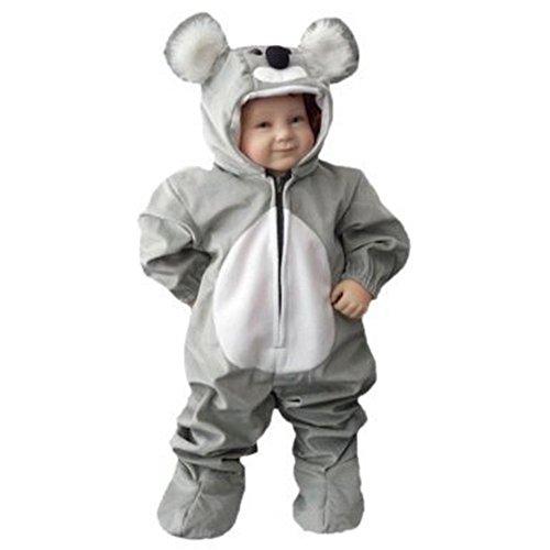 Koala-Bär Kostüm, J42 Gr. 92-98, für Klein-Kinder, Babies, Koala-Kostüme Koalas Kinder-Kostüme Fasching Karneval, Kinder-Karnevalskostüme, Kinder-Faschingskostüme, - Kleinkind Dino Kid Dinosaurier Kostüm