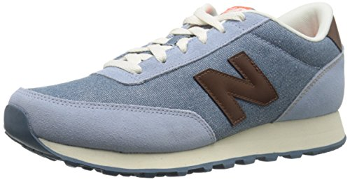 New Balance Womens Classics Traditionnels Textile Trainers Light Blue