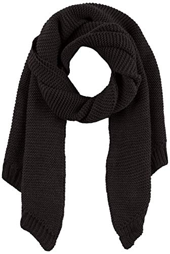 PIECES Damen PCDACE LONG WOOL SCARF NOOS Schal, Schwarz Black, One Size