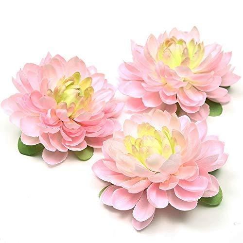 Flores Artificiales 11 cm Seda Cabeza de Flor de Dalia Margarita Boda decoración del hogar Flor de Bricolaje Tocado de…