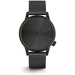 KOMONO Winston Royale Unisex-Uhr, Watches/Uhren, schwarz (Black), Quarz, Analog, Metallarmband aus gebürstetem Edelstahl, KOM-W2352
