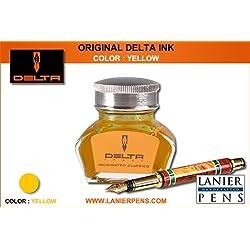 Delta pluma estilográfica de tinta-amarillo