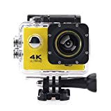 ZUEN Outdoor Sports wasserdichte Unterwasserkamera WiFi Remote Cam Unterwasser 30M Action Kamera mit Fernbedienung,Gold