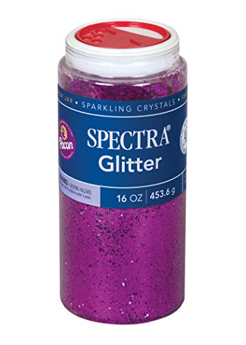 Spectra Non-Toxic Glitter Crystal 1 lb Jar Clear