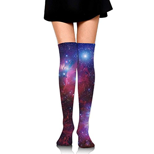 Doormat-bag Women Crew Socksc Thigh High Over Knee Space Galaxy Star Nebula Long Tube Dress Legging Sport Compression Soccer Stocking