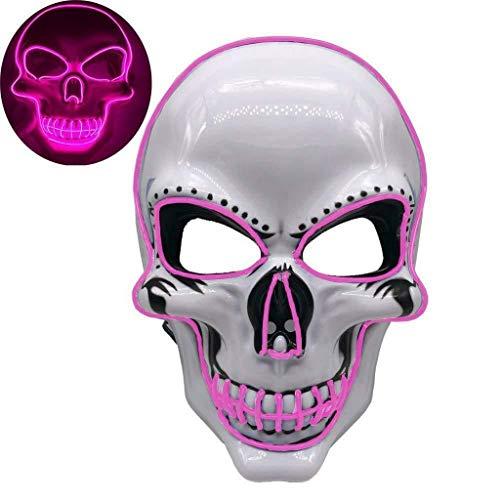 Vendetta Mädchen Kostüm Für V - Innerternet LED Purge Maske mit 3 Blitzmodi für Halloween Light Wire Cosplay Maske Purge Mask für Halloween Festival Cosplay Halloween Kostüm