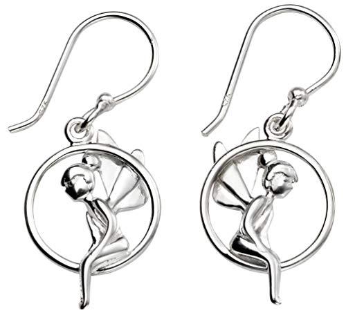 Mon-bijou – D5397 – Ohrringe Fee Schaukel aus Sterling-Silber 925/1000