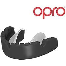 Ortodoncia Protector Bucal OPRO Self-Fit GEN 3 Gold Protector bucal para portadores de aparatos dentales - Para rugby, hockey, artes marciales mixtas, lacrosse, fútbol americano, baloncesto y más - Fabricado en Reino Unido (Negro)