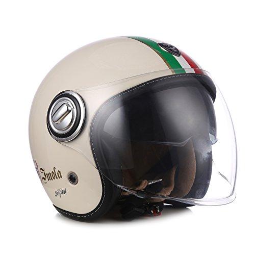 SOXON SP-888 IMOLA - Italy Jet-Helm Vintage Vespa-Helm Biker Chopper Motorrad-Helm Pilot...