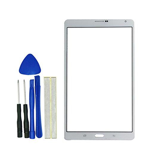 Klesti Außen Screen Glas-Objektiv Reparatur Ersatzteil für Samsung Tablet SM-T705(Weiß)