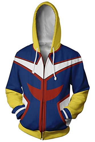 Xiemushop Hoodie Frühling Herbst 3D Digital Druck Kapuzen Pullover Sweatshirt Anime Cosplay Kostüm Kapuzenjacke Sweatjacke Reißverschluss (Anime Sweatshirt Kapuzen)