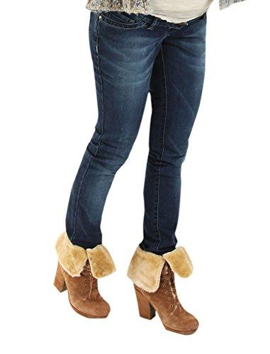 Christoff Jeans l San Diego l Flared-Jeans Perfekt Sitz Umstandsjeans Damen Hose bis Gr. 54 Neu