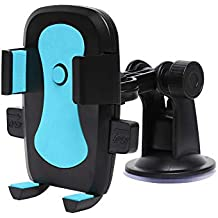 Amazon Brand - Solimo Assist Mobile Holder for Cars (360 Degree Rotation, Blue)