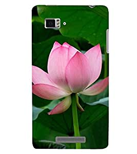 Printvisa Premium Back Cover Pink Rose With Leaves Background Design For Lenovo Vibe Z K910
