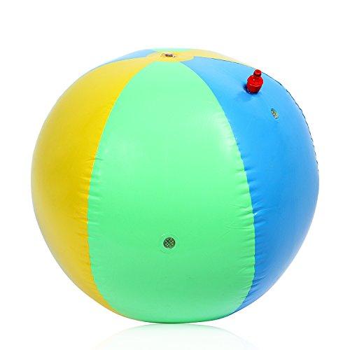 AOLVO Beach Ball Sprinkler, 29,5in aufblasbar Strand Balls Bulk PVC Bunte Extra große Blow Up Beach Ball Wasser Sprinkler für Kleinkinder Jungen und Mädchen