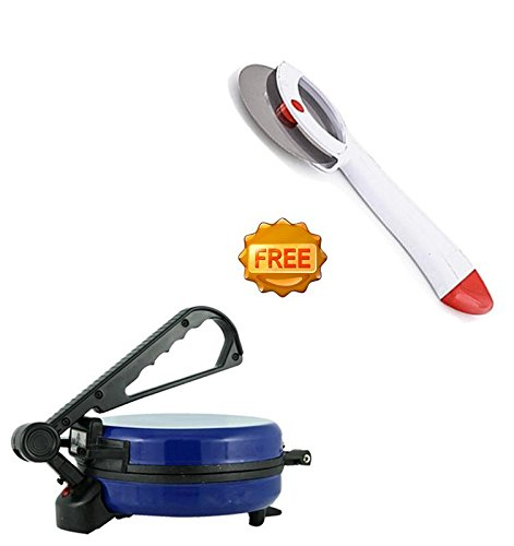 Kingsburry Combo of Blue Roti Maker With free Pizza Cutter (Product Colour May Vary)