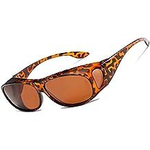 420965080f LEDING&BEST Gafas de sol deportivas polarizadas UV400,Gafas de Sol Para  Colocar Sobre las Gafas