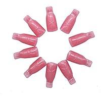 Deesos Nuovo design 10PC Plastica Nail Art impregna fuori Cap clip polacco UV del gel di rimozione Wrap Strumento