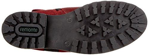 Remonte D7480, Stivali da Motociclista Donna Rosso (Mohn/schwarz/rot-grau)