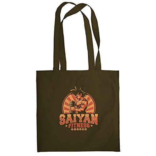 Texlab–Saiyan Fitness–sacchetto di stoffa Marrone
