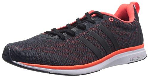 adidas Adizero Feather 4 Herren Laufschuhe Schwarz (Core Black/Core Black/Solar Red)