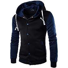 Sudaderas Hombre, Xinan Hombres abrigo chaqueta suéter de invierno delgado con capucha sudadera